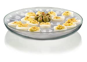 Anchor Hocking Presence 3-Piece Multi-Use serving Tray-Deep Serving Tray with Egg Insert... by Anchor Hocking