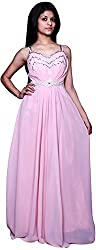 Trendz Today Women's Long Gown (GT18, Light Pink, X-Large)