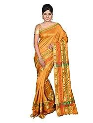 Glamorous Lady Solid Banarsi Cotton Silk Saree