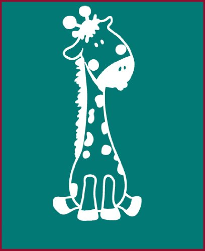 Wall Decor Plus More Baby Giraffe Wall Sticker for Nursery or Child's Room Decor Vinyl Decal 24x10 White White