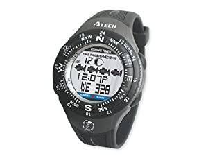 Gsi Super Quality Outdoor Fishfinder Wrist Mount Digital Watch Graphic Charts Tide Sun And Moon Data Timer Alarms Chronograph And Calendar Functions For Fishing And Sports