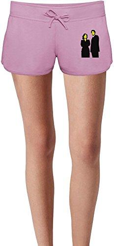 mulder-and-scully-stencil-las-damas-verano-sudor-shorts-summer-sweat-shorts-for-women-ladies-80-cott