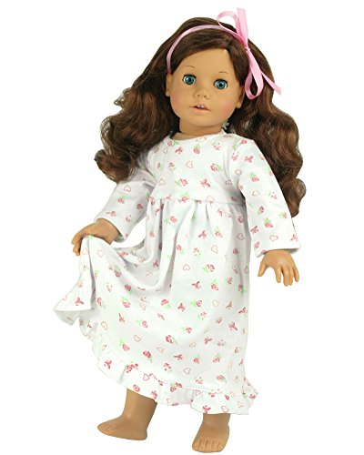 18-Inch-Dolls-Clothes-Nightgown-fits-American-Girl-Dolls-Print-Knit-Nightgown-Doll-Clothing-for-18-Inch-Dolls