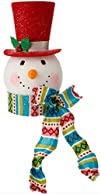 Holiday Snowman With Red Top Hat & Sc…