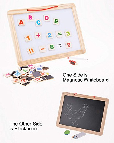 Baby Toys Wood Educational Two-sided Drawing Board Jigsaw Games for Kid