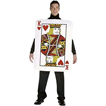 Rasta Imposta Mens King of Hearts Deluxe Playing Card Adult Costume