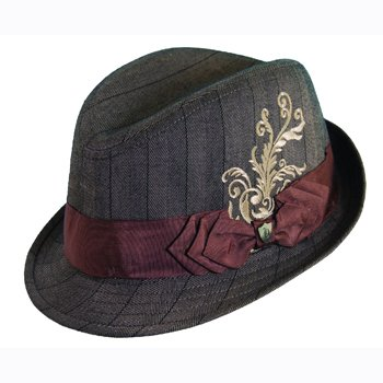 Rocker fedora ....size Large color Brown