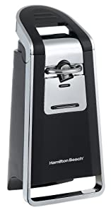 Hamilton Beach 76606Z Smooth Touch Can Opener, Black and Chrome