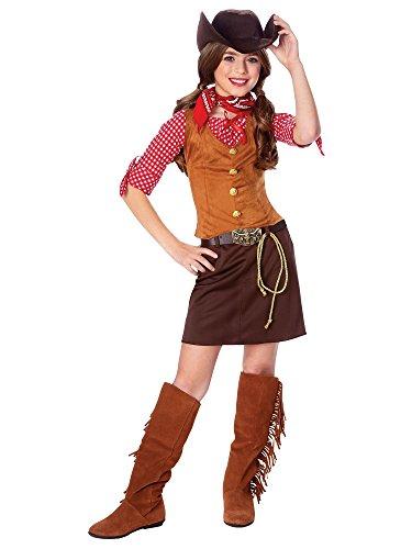 [Girl's Gunslinger Costume LARGE] (Rootin Tootin Cowgirl Costume)