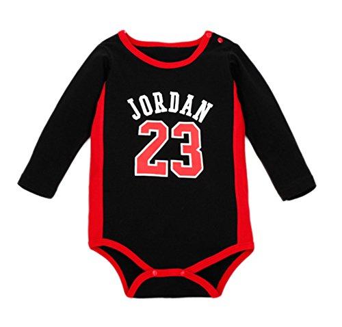 StylesILove Basketball Baby Boy Romper (18-24 Months, Black)
