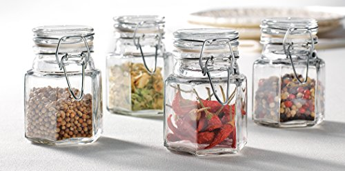Home Essentials Bon Appetit Bail and Trigger Spice Jar, Set of 4