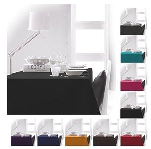"Extra Large Rectangular Fabric Tablecloth 150x250cm 59""x98"" Black"