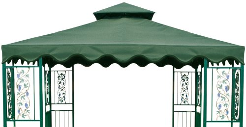 8'x8' 2 Tier Gazebo Canopy Green Top PU Coating Cover Replacement
