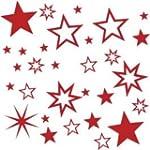 30 St�ck Sterne Farbe Rot Aufkleber,...