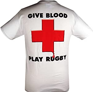 Give Blood - Play Rugby T-Shirt - L