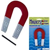 Metal Horseshoe Red Magnet 4 inch
