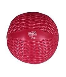Body Sculpture Medicine Ball/Toning Ball, 1kg (Red)