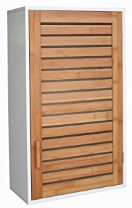 nordic bad bathroom wall cabinet bamboo white kitchen