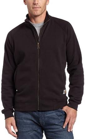 Carhartt Men's  Midweight Front Sweatshirt, Black, Small