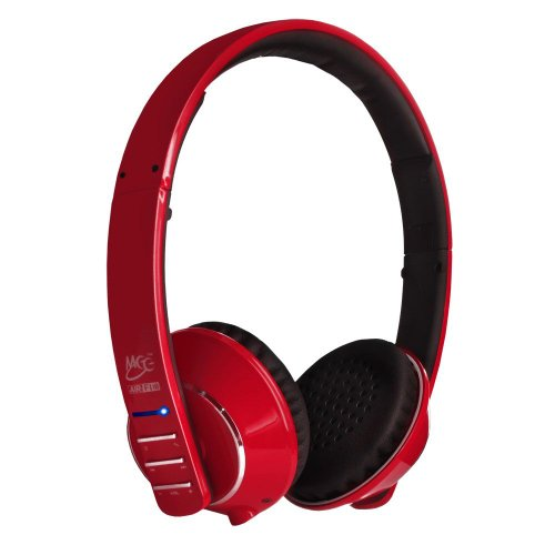 Meelectronics Air Fi Runaway Bluetooth Stereo Wireless Headphones With Microphone (Red)