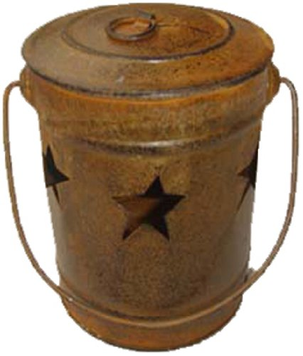 Craft Outlet Rustic Star Candle Bucket, 4 by 4 by 6-Inch