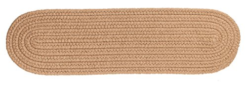 Rhody Rug Solid Wool Stair Tread, Taupe