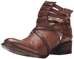 Freebird Women\'s Stair Boot, Cognac, 7 M US