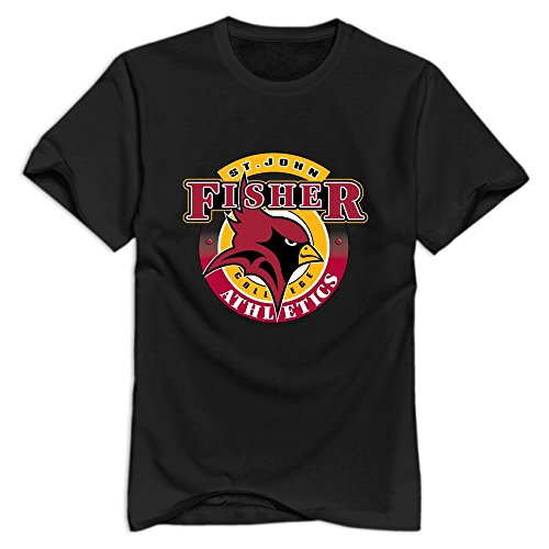 Leberts Black St. John Fisher College Cardinals 100% Cotton T Shirt For Men Size X-Large (St John Fisher compare prices)