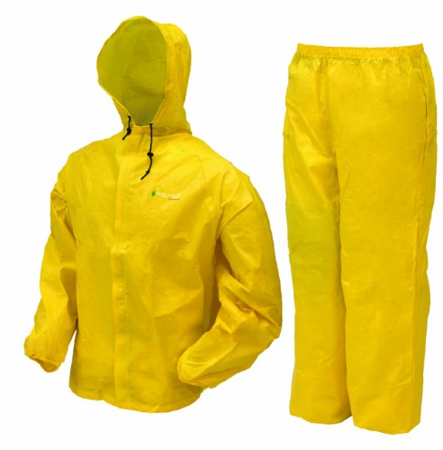 Frogg Toggs Men's Ultra Lite Rain Suit, Yellow, Medium