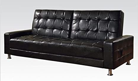 Acme 57091 Modern Black PU Sleeper Sofa