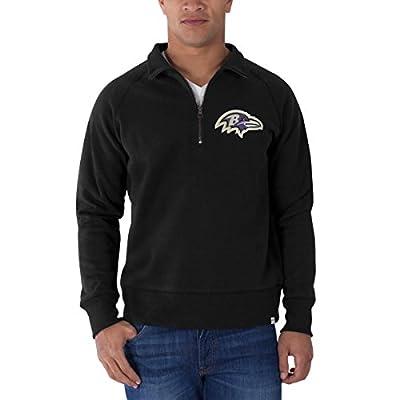 NFL Men's '47 Brand Cross-Check 1/4 Zip Pullover