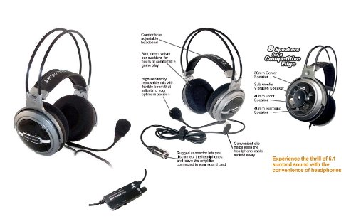 Ear Force Hpa2 5.1 Surround Pc Gaming Headset