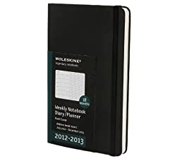 Moleskine 2013 18 Month Weekly Notebook Planner Black Hard Cover Large (18 Month Diary)