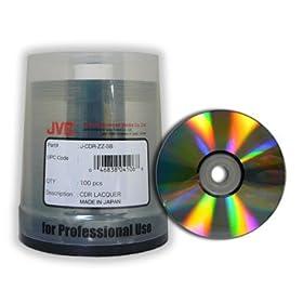 100 Taiyo Yuden/JVC 52X CDR (CD-R) 80min 700MB Shiny Silver in Cake Box