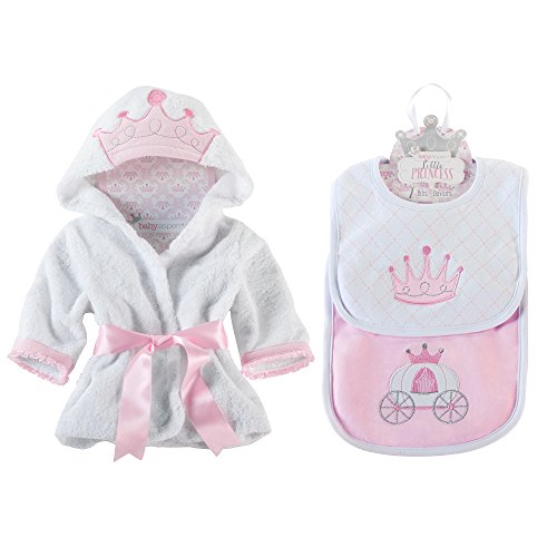 Baby Aspen Princess Bundle of Princess Robe and Princess Bibs - 1