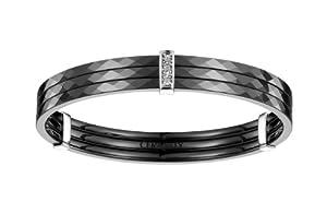 Ceranity - 1-38/0002-N/62 - Bracelet Jonc Femme - Argent 925/1000 2.55 gr - Diamant - Blanc - 62 cm