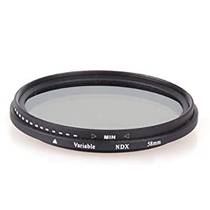 NEEWER 58mm fader ND filter adjustable variable ND2 to ND400