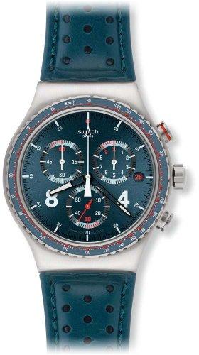 Swatch YVS406 - Orologio da polso da uomo, cinturino in pelle