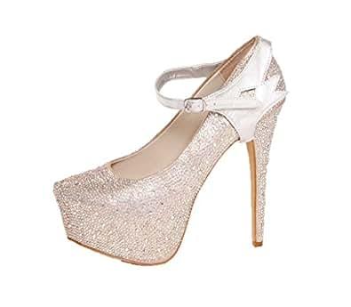 Sangles Amovibles de Chaussure - Pour maintenir en place des chaussures à talons hauts laches(Argent)