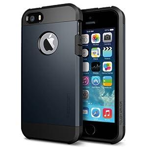 iPhone 5S Case, Spigen Tough Armor Case for iPhone 5/5S - Metal Slate (SGP10490)