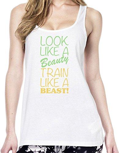 Look Like A Beauty Train Like A Beast Slogan Tunica delle donne Large