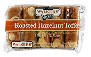 Walkers Nonsuch English Toffee - Roasted Hazelnut - 100g