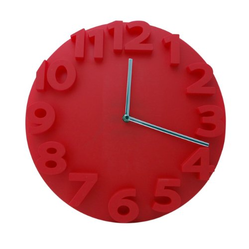 Contemporary Wall Clock - Modern Round Circle 3D Big Large Digits Decorative