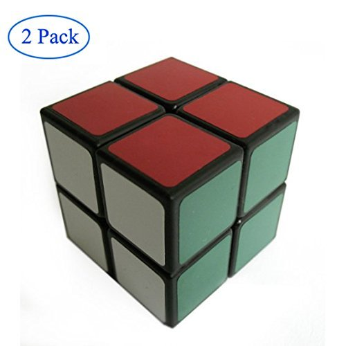 Finegood Lanlan 2x2 Speed Cube Black (2 pack) with cube bag - 1