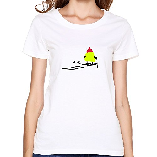 Favorable Yellow Bird Skiing Ladyt Shirts