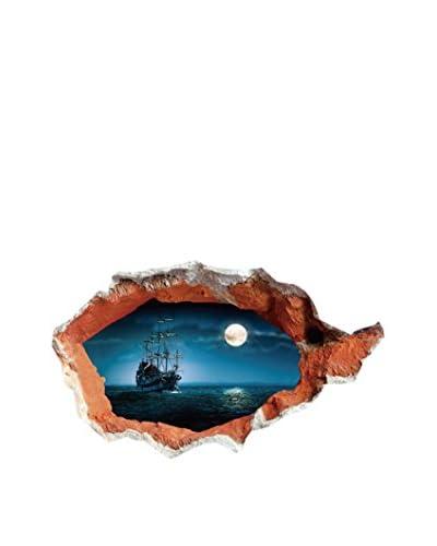 LO+DEMODA Vinilo Decorativo Piratas 3D Multicolor