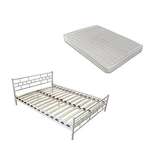 180x200 cm Bett Metallbett mit Matratze Schlafzimmerbett Doppelbett + Lattenrost  Kundenbewertung und weitere Informationen