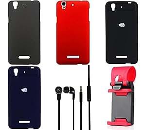 NIROSHA Cover Case Headphone Mobile Holder Combo for YU Yureka Combo
