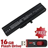 Battpit⢠Laptop / Notebook Battery Replacement for Sony VAIO VGN-TX5MN/W (6600 mAh) with 16GB Battpit⢠USB Flash Drive