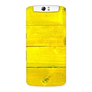 Yellow Wood Backyard Back Case Cover for Oppo N1